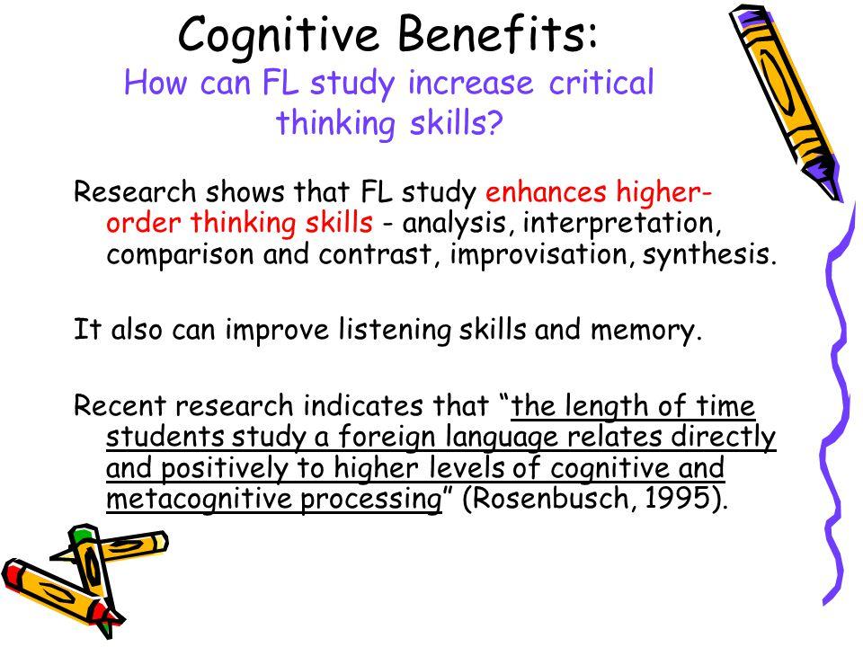enhancing critical thinking skills