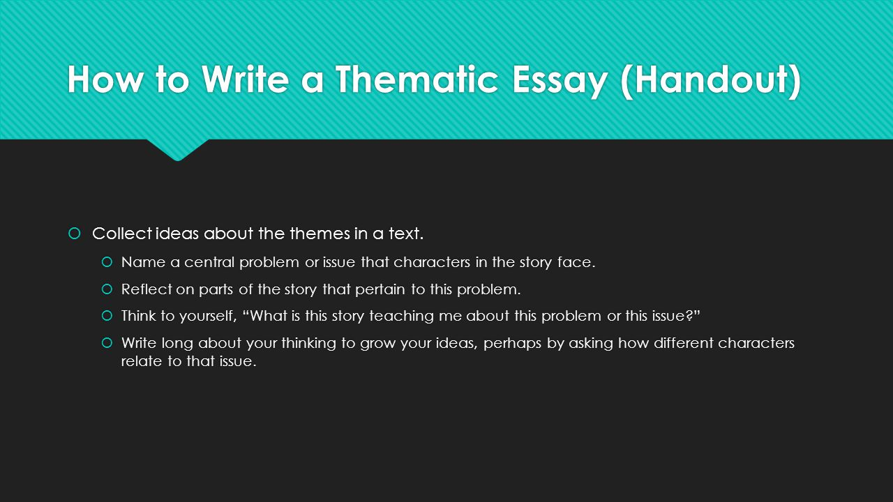 Theme For English B Essayjpg. Essay Theme Ideas Wwwgxartorg The Literary  Essay Argument Grade Bend Analyzing Craft And How To Write