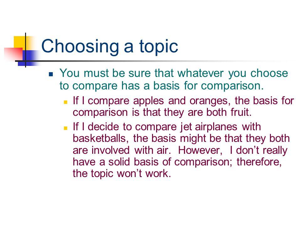 comparison essay research paper
