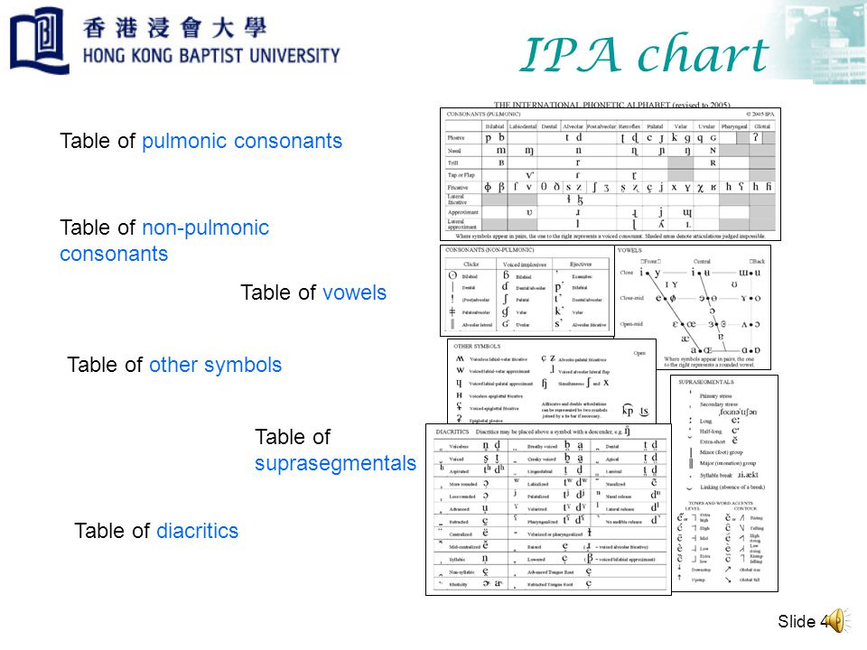 Slide 3 IPA system The IPA system of notation is particularly useful for a scientific study of the sounds of the world's languages because it has a one-to-one correspondence between a unit of linguistic sound (phone) and a letter symbol.