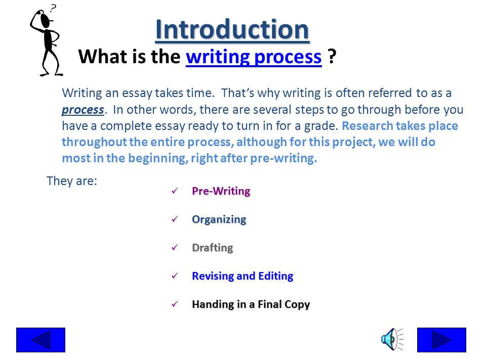 steps to write a process essay