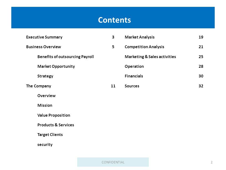 Business plan customer benefits