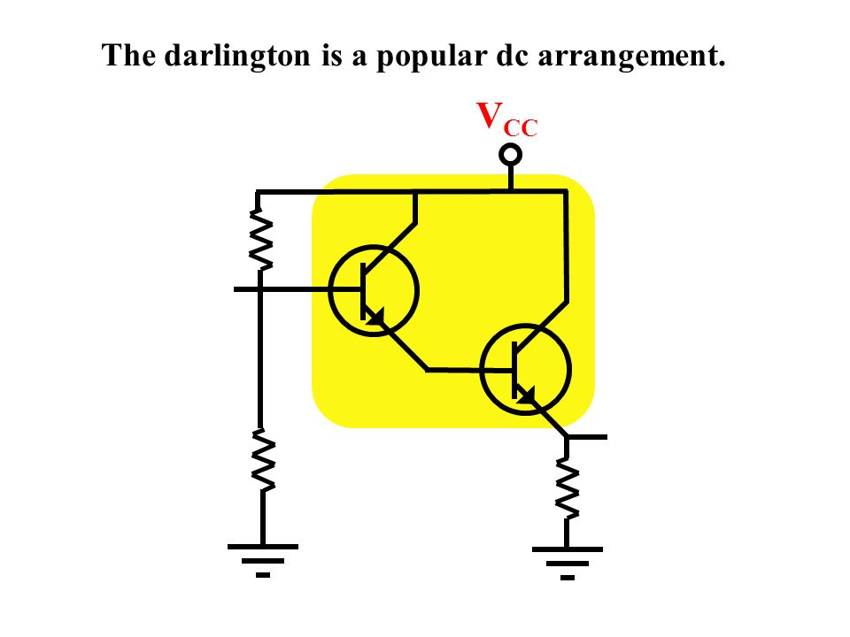 V CC Direct coupling is required for dc gain.