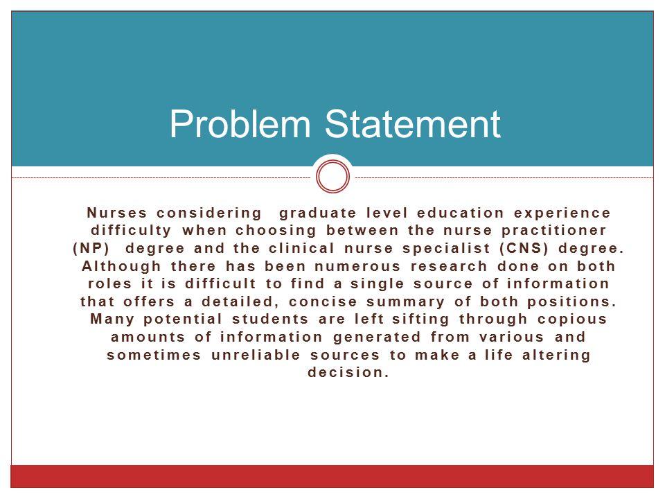 A Decision Dilemma For Prospective Advance Practice Nurses Tiffany
