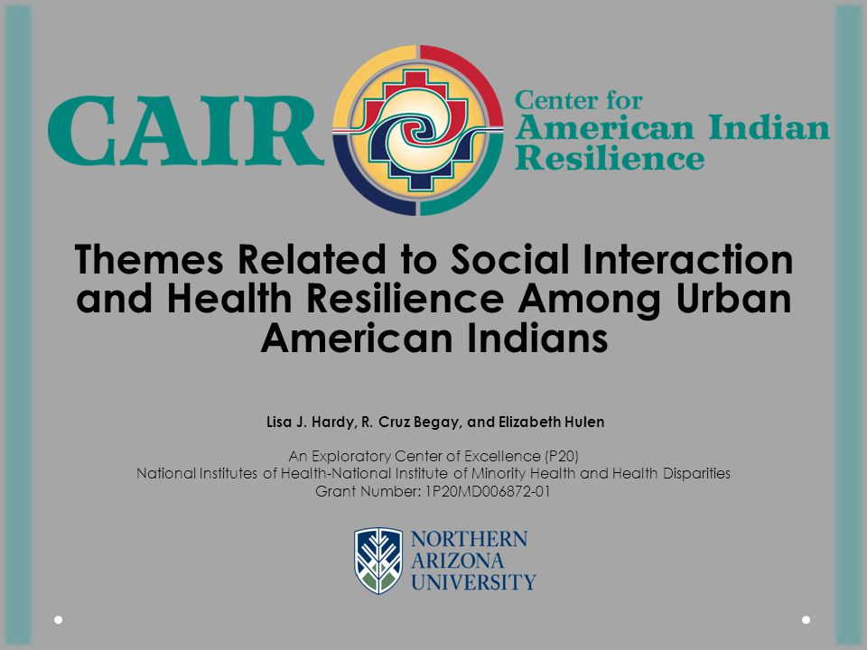 Themes Related to Social Interaction and Health Resilience Among Urban American Indians Lisa J.