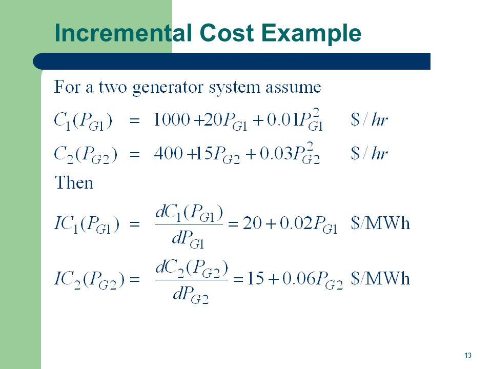 13 Incremental Cost Example
