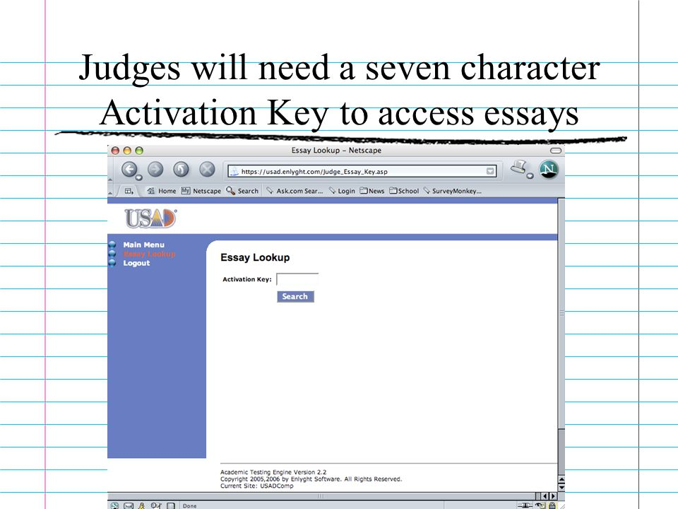 usad essay rubric
