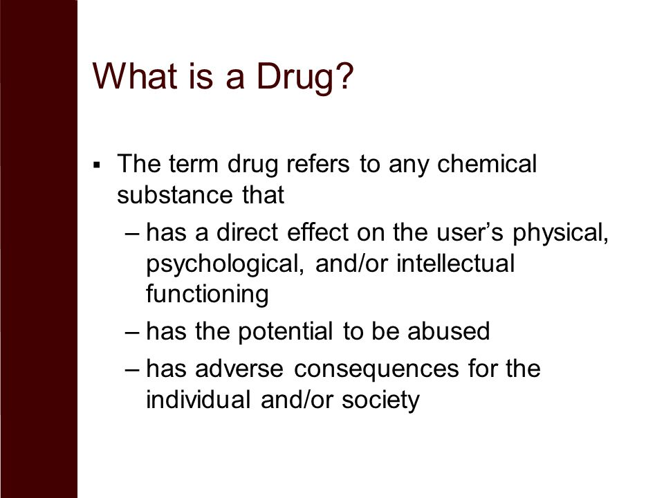 drug effect essay