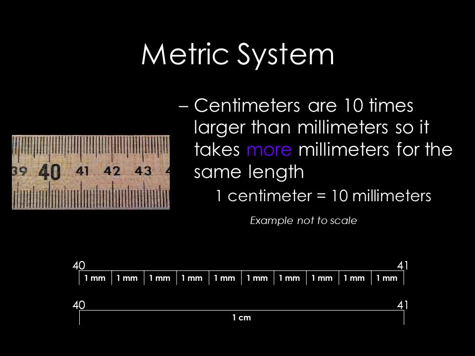 Metric System These prefixes are based on powers of 10.