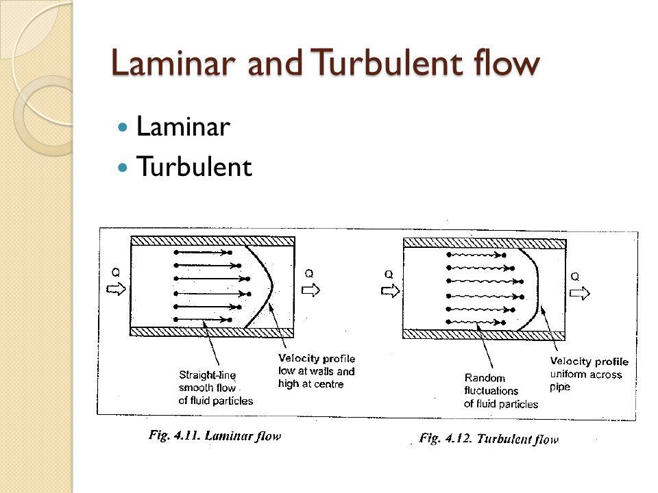 Laminar and Turbulent flow Laminar Turbulent