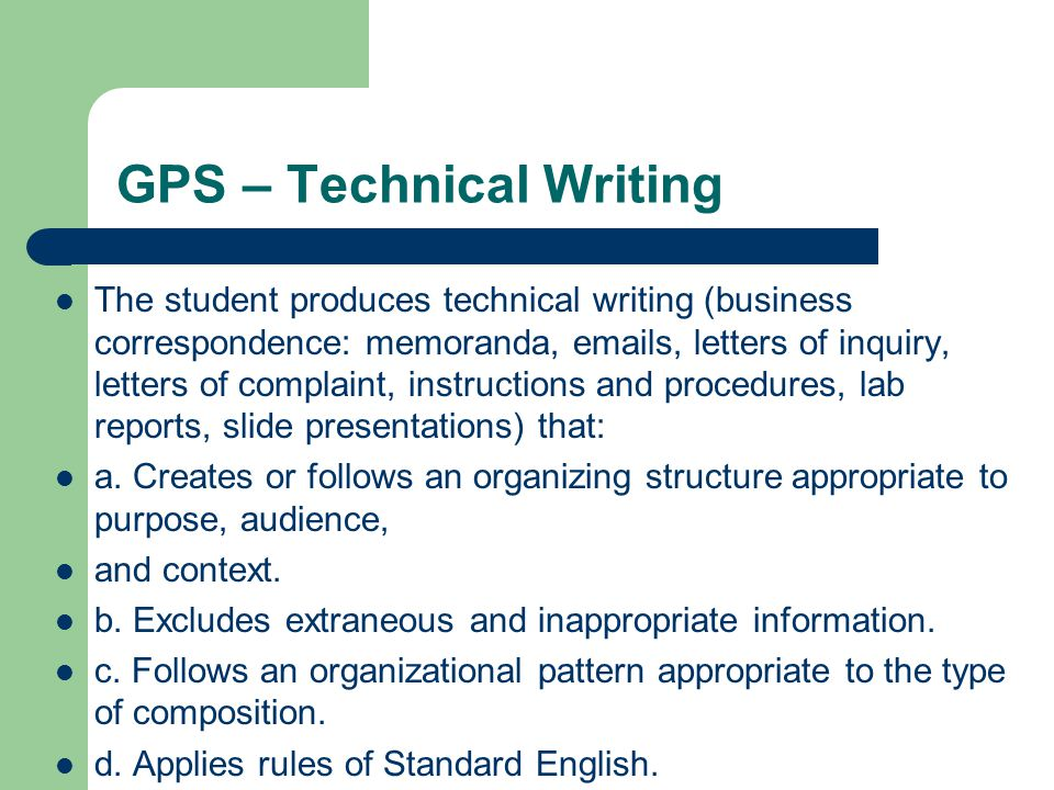technical writing rules Technical writing often (most technical writers references provide support for statements and add credibility to writing the rules for what needs a.