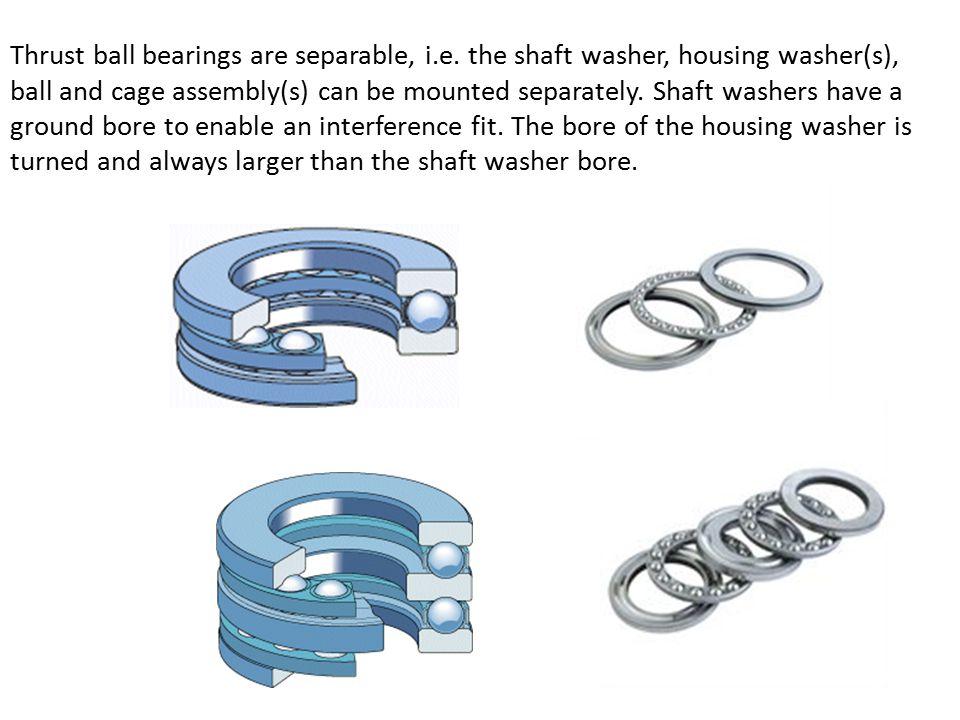 Thrust ball bearings are separable, i.e.
