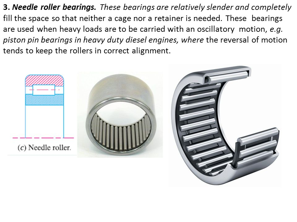 3.Needle roller bearings.