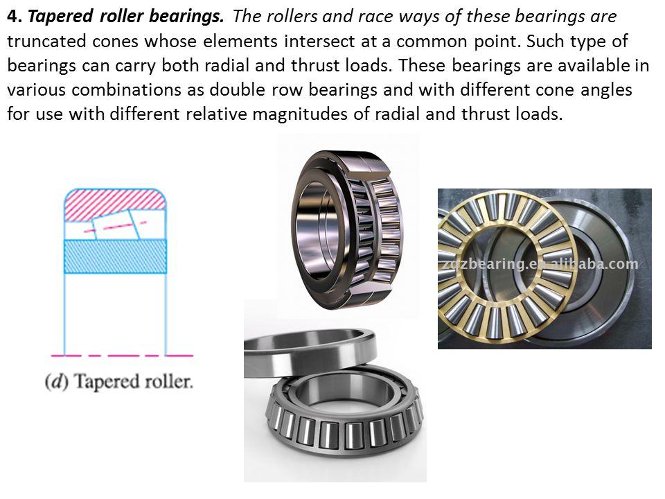4.Tapered roller bearings.