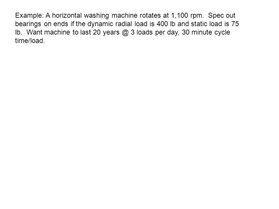 Example: A horizontal washing machine rotates at 1,100 rpm.