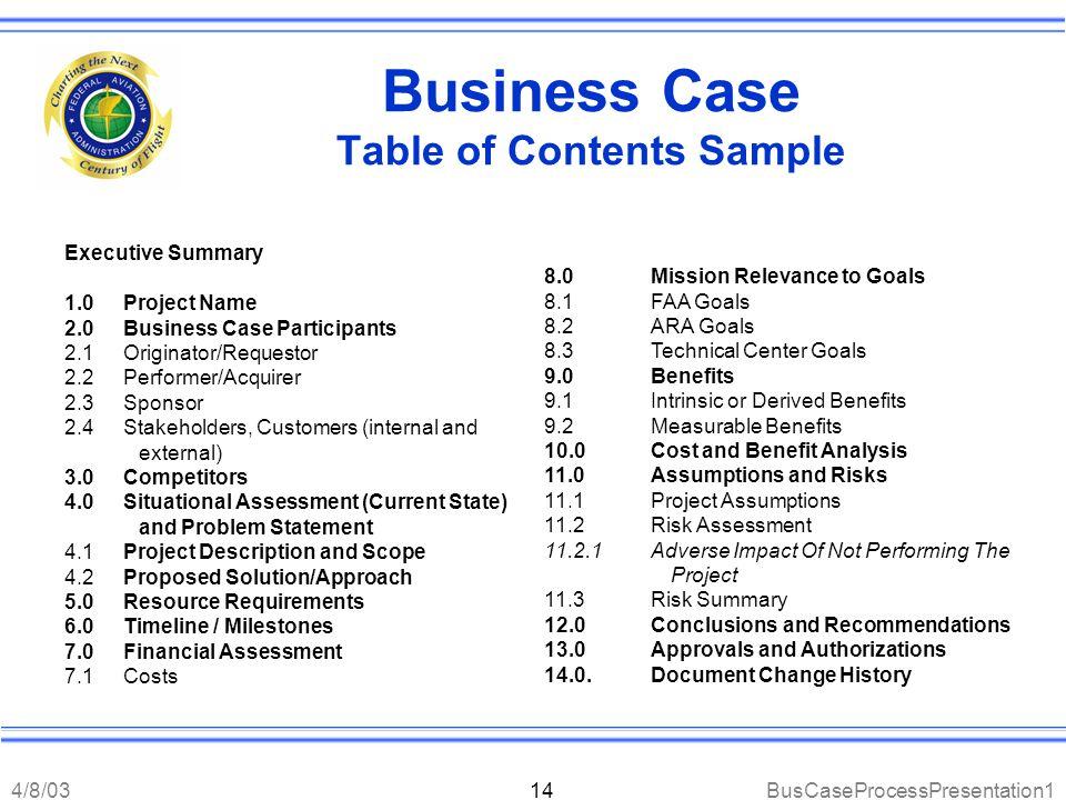 Business Case Process John DiNofrio Gary Graybill April 8, ppt ...