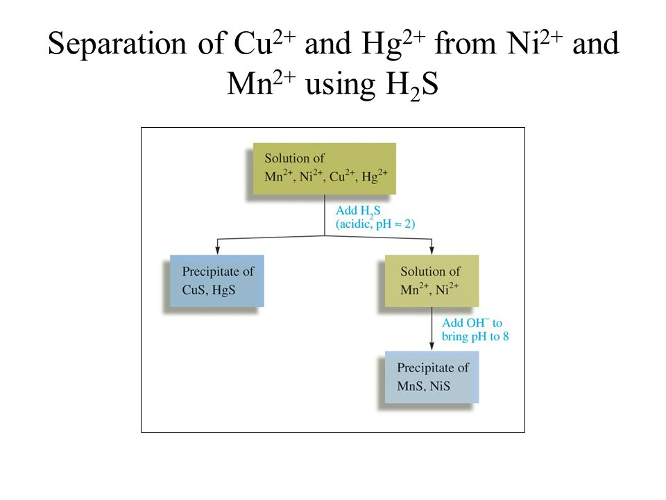 Separation of Cu 2+ and Hg 2+ from Ni 2+ and Mn 2+ using H 2 S