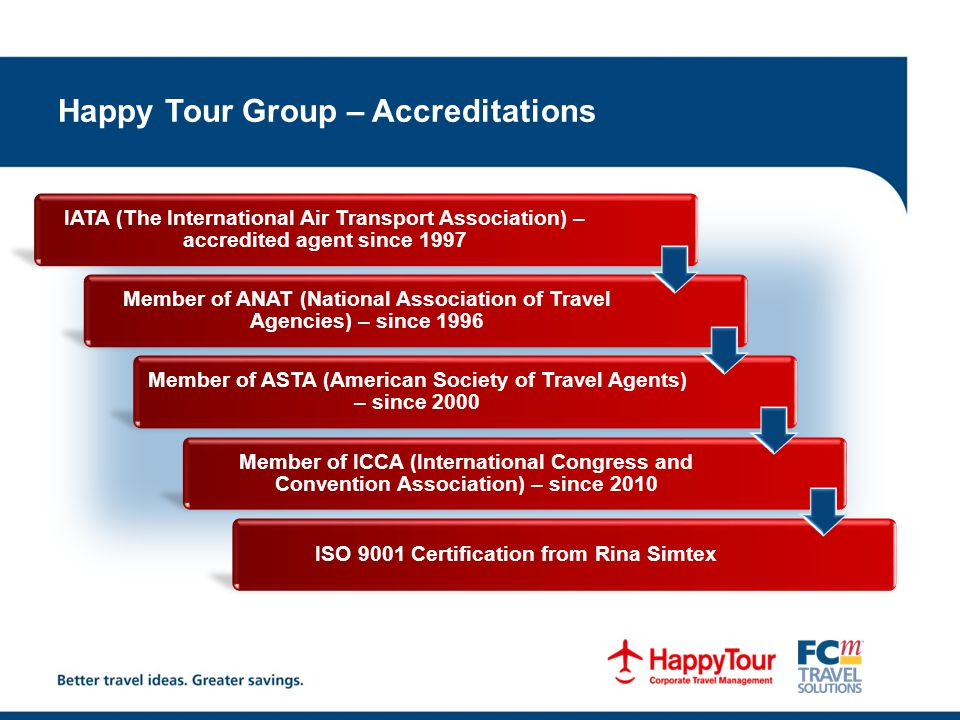 Happy Tour Group – Accreditations