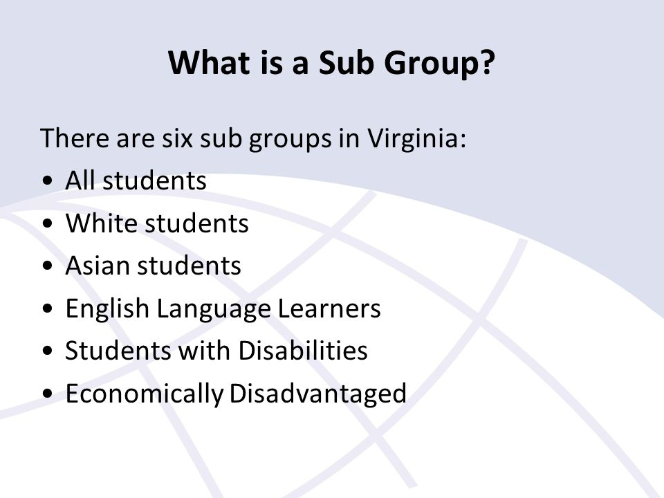 What is a Sub Group.