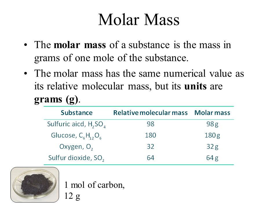 Relative molecular mass The relative molecular mass of a compound is the mass of one molecule of the compound compared to 1/12 th of the mass of the carbon-12 isotope.