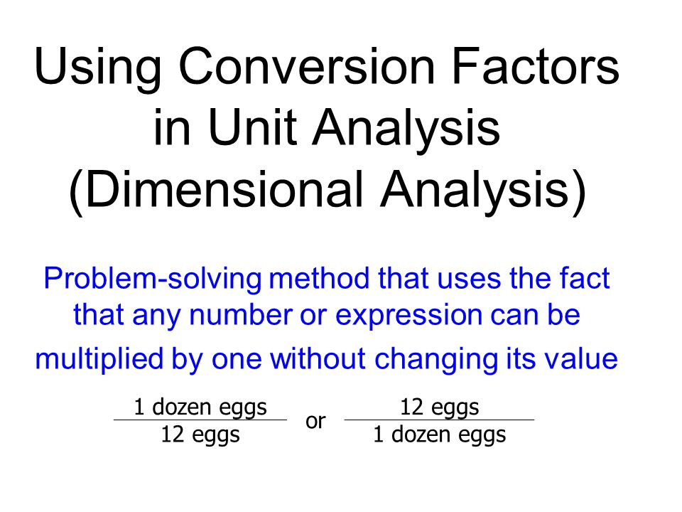 Solving dimensional analysis problems