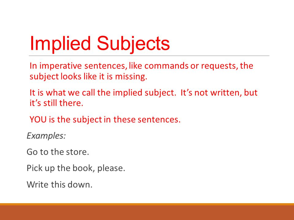 What Is An Implied Subject Example