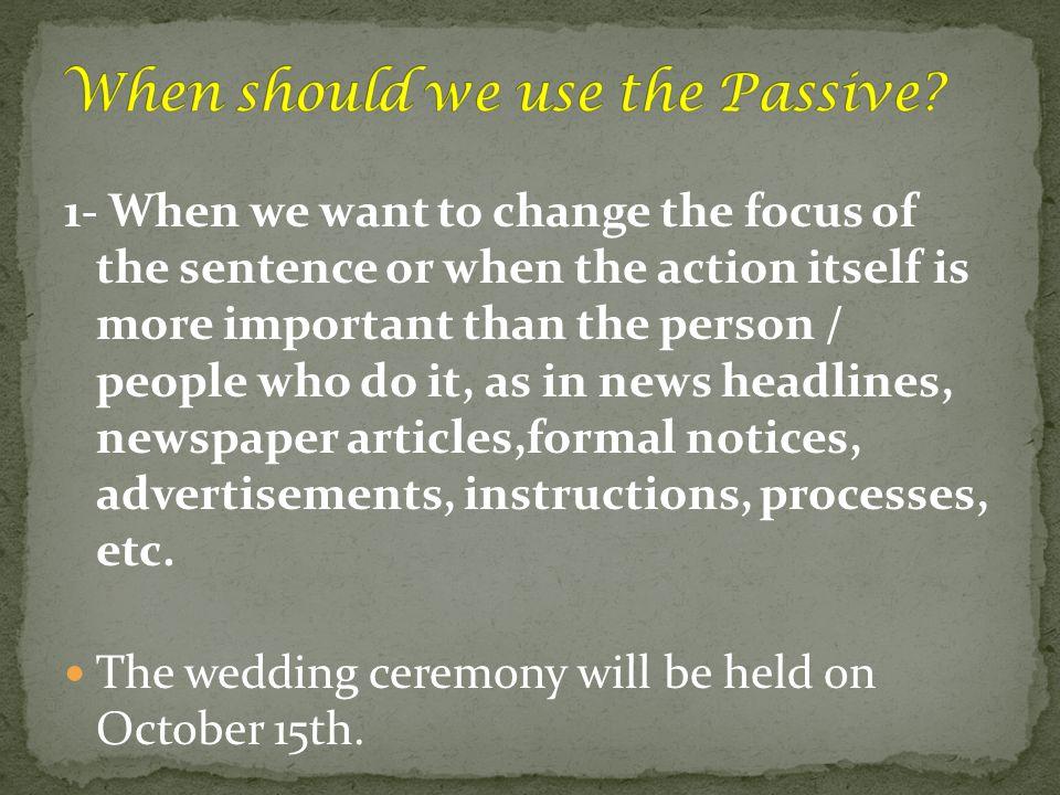 Change the sentence