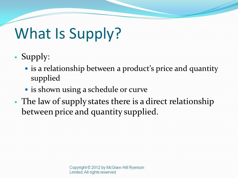 What Is Supply.