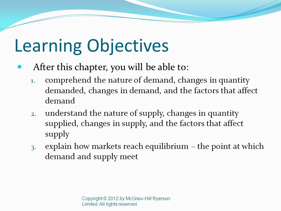 Learning Objectives After this chapter, you will be able to: 1.