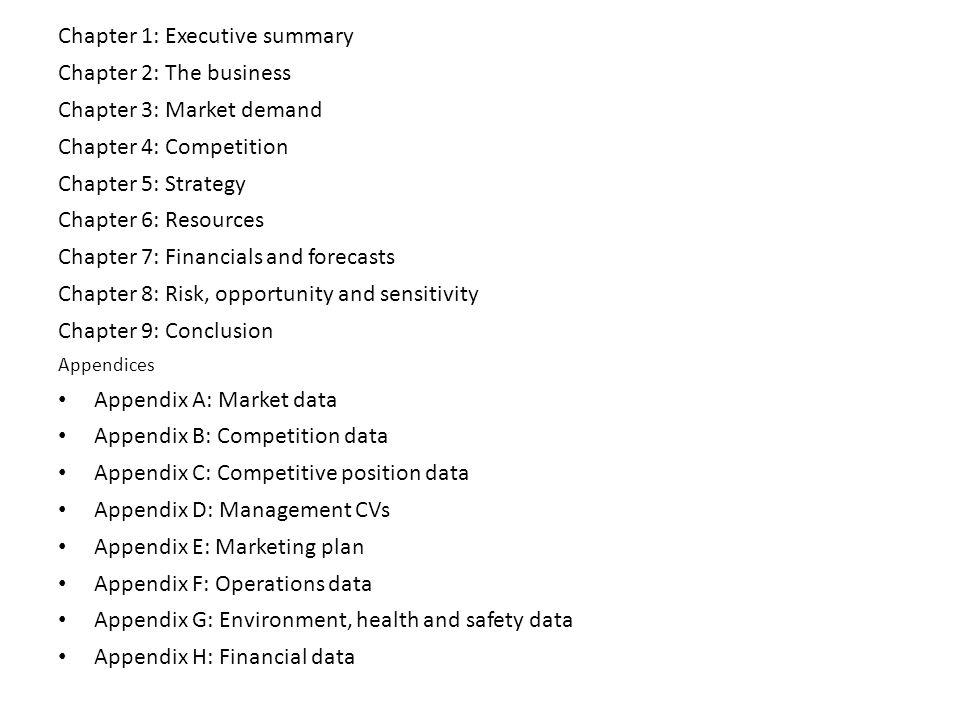 Do financial summary business plan