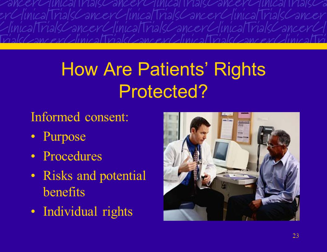 23 How Are Patients' Rights Protected.