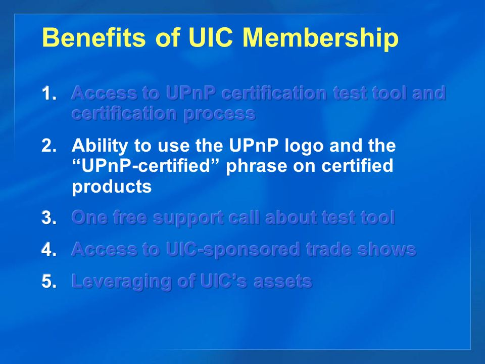 Benefits of UIC Membership