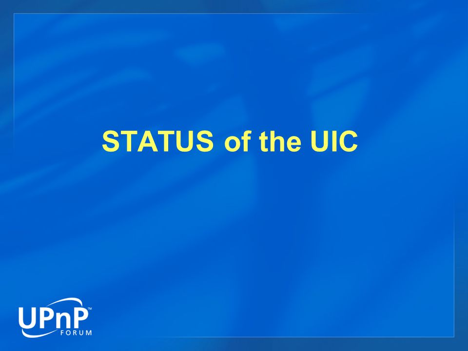 STATUS of the UIC