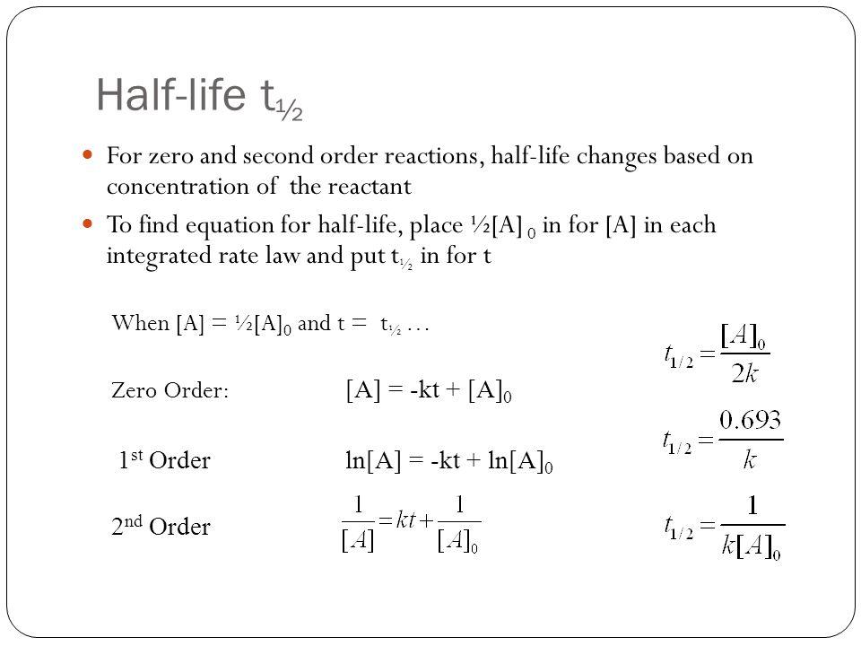 Half life equation