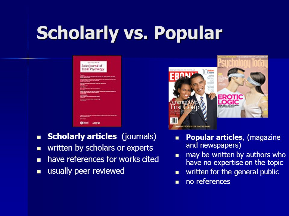 Articles scholarly