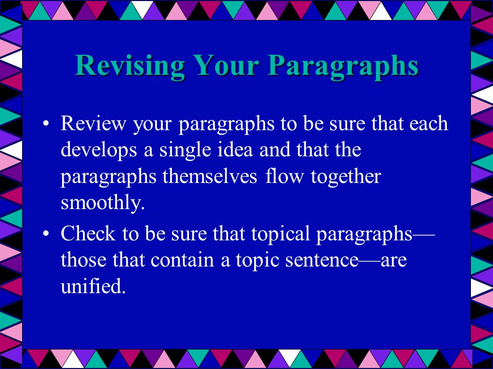What is a topical and a Functional paragraph?