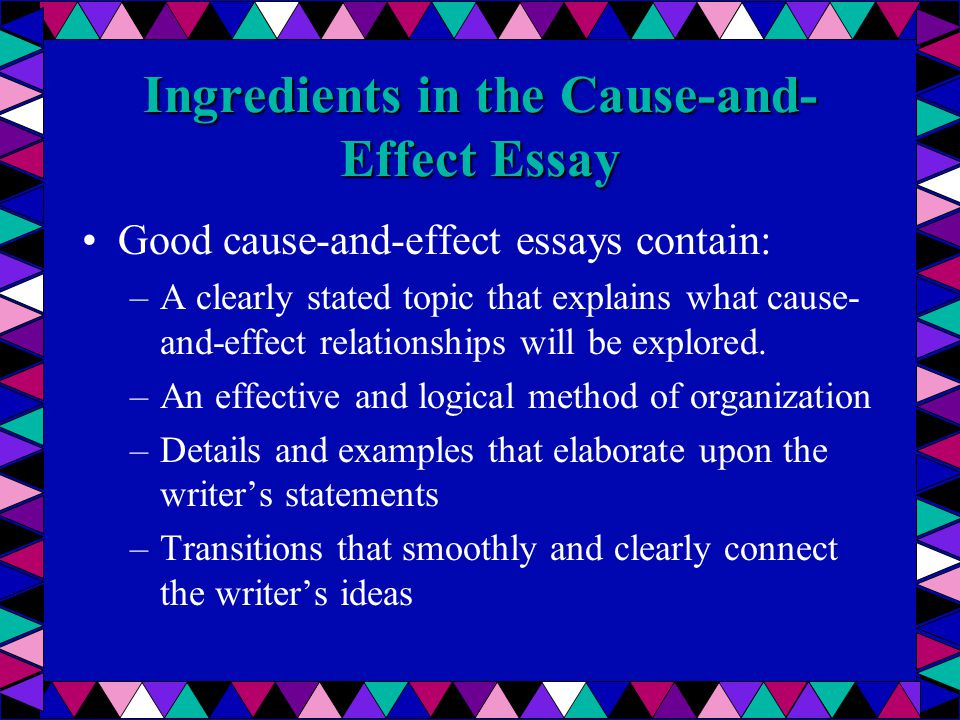 Essay On Cause And Effect