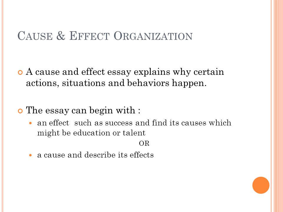 organizational plans for essays What is a Cause and Effect Essay?