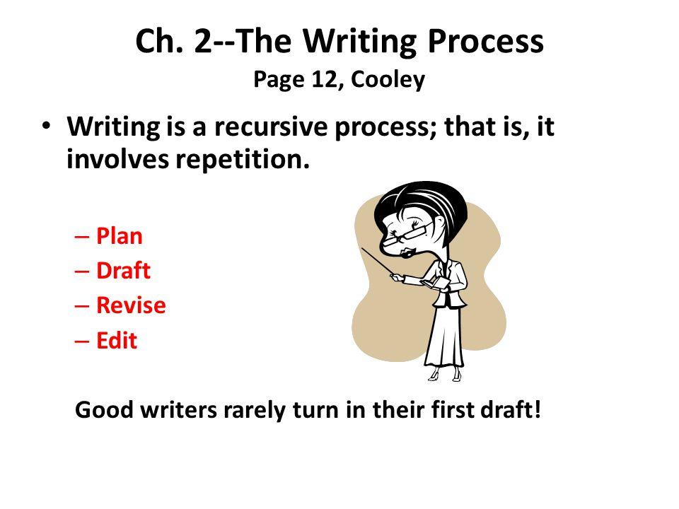 Draft focus in master plan revise thesis write