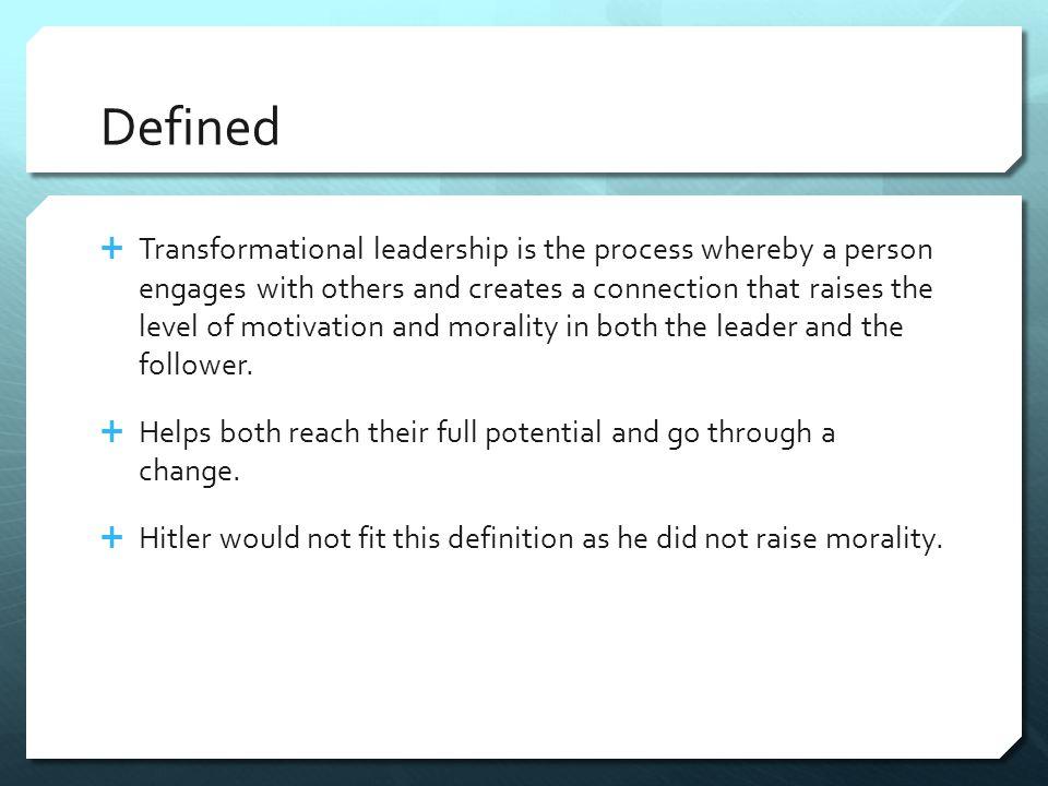 Transformational Leaders Characteristics 1.