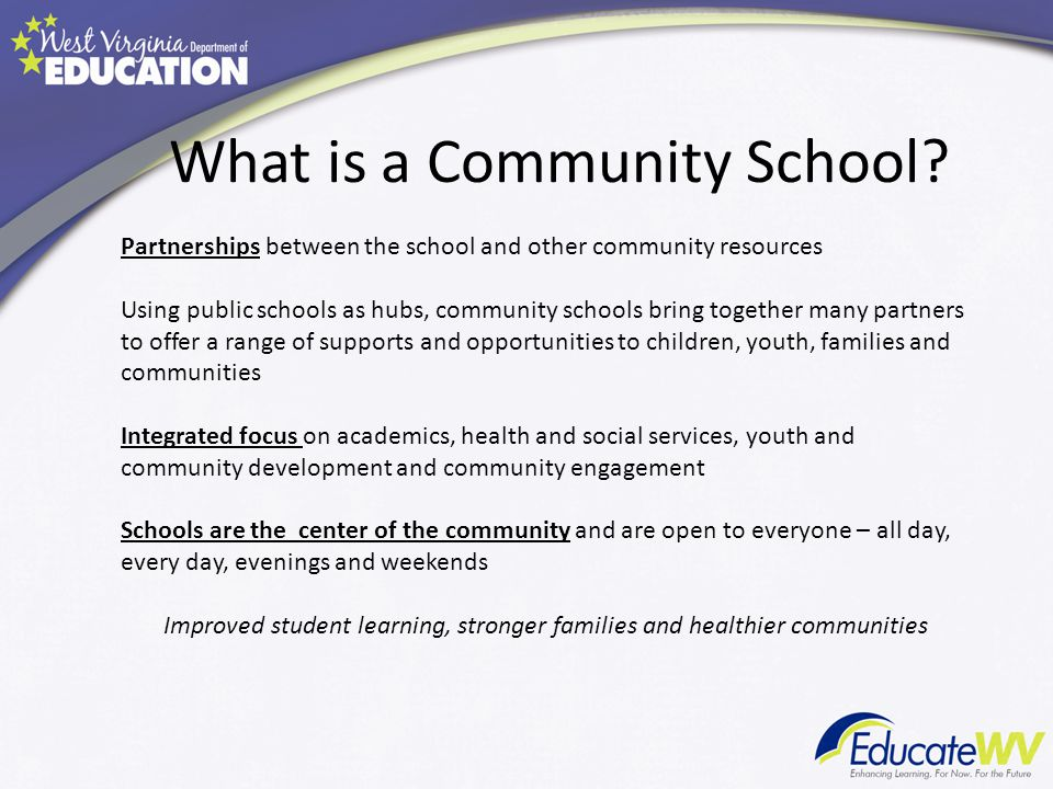 What is a Community School.