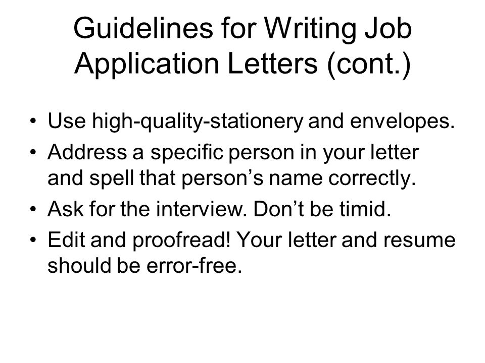 How to write an application letter - Career Centre