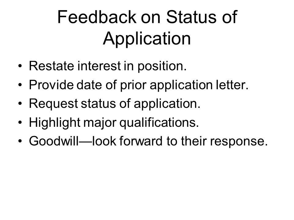 check job application status letter
