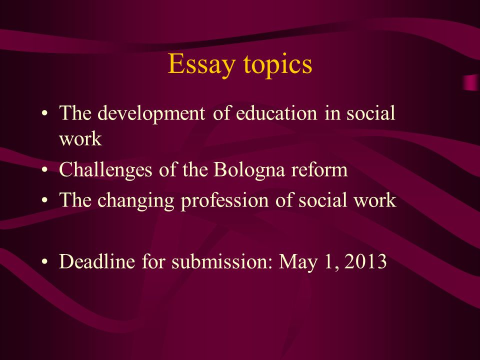 Social Issue Essay Topics