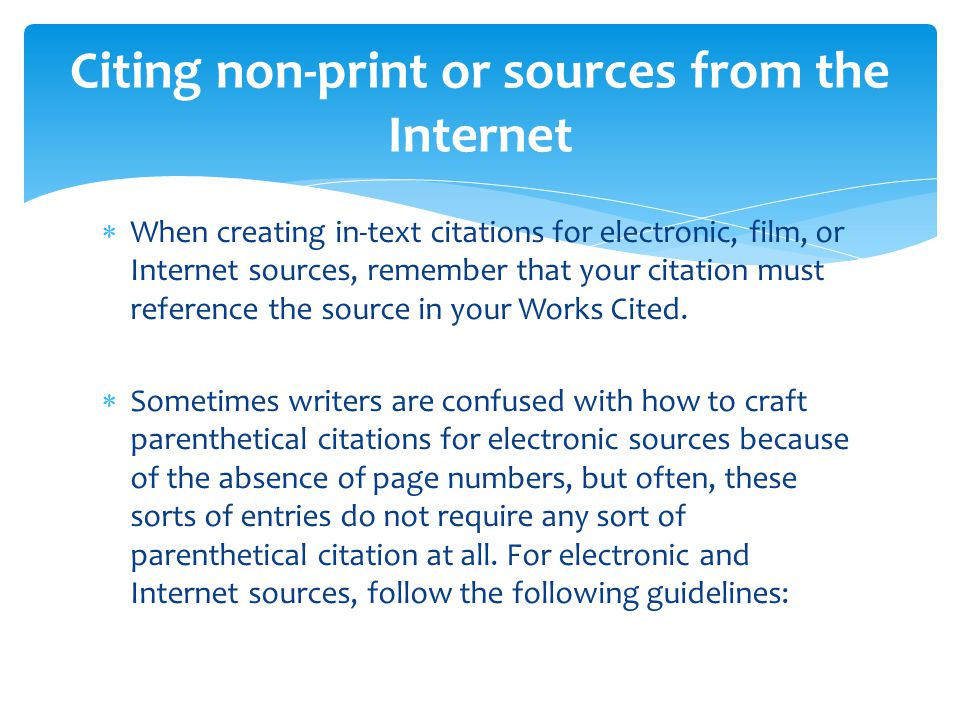 How to write a parenthetical citation for an online discussion?