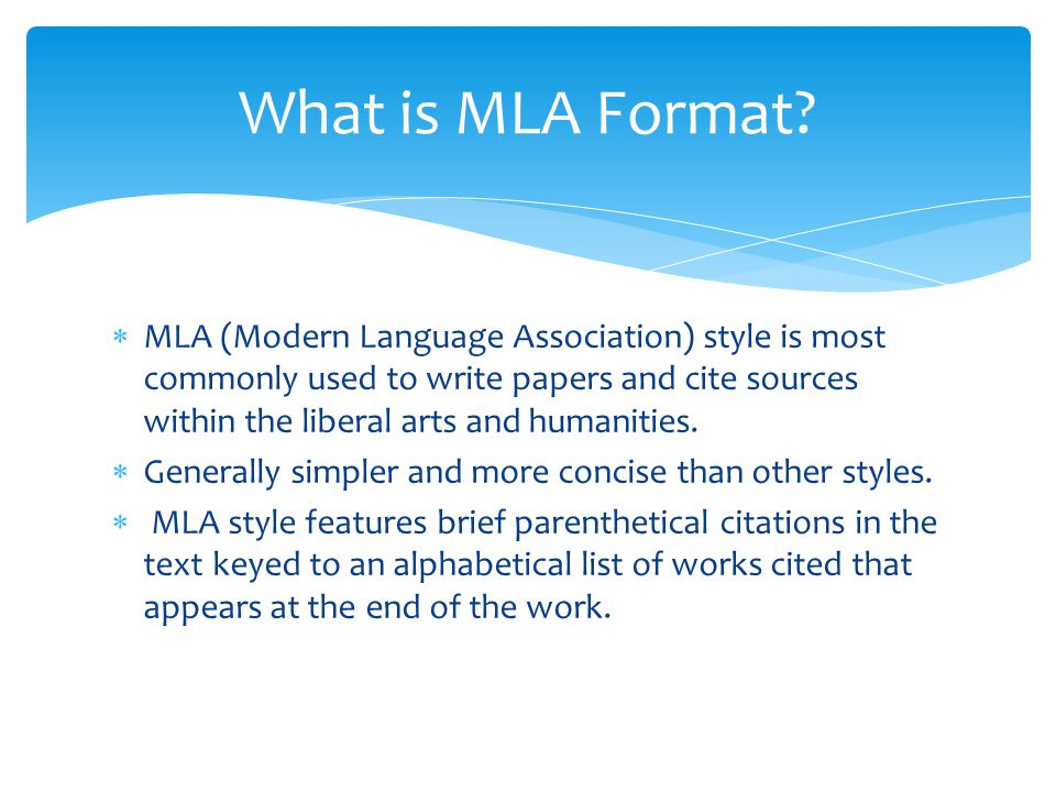 example of mla essay