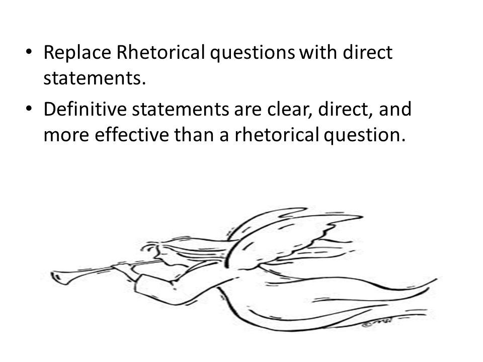 Thesis Statements... in the form of a rhetorical question?