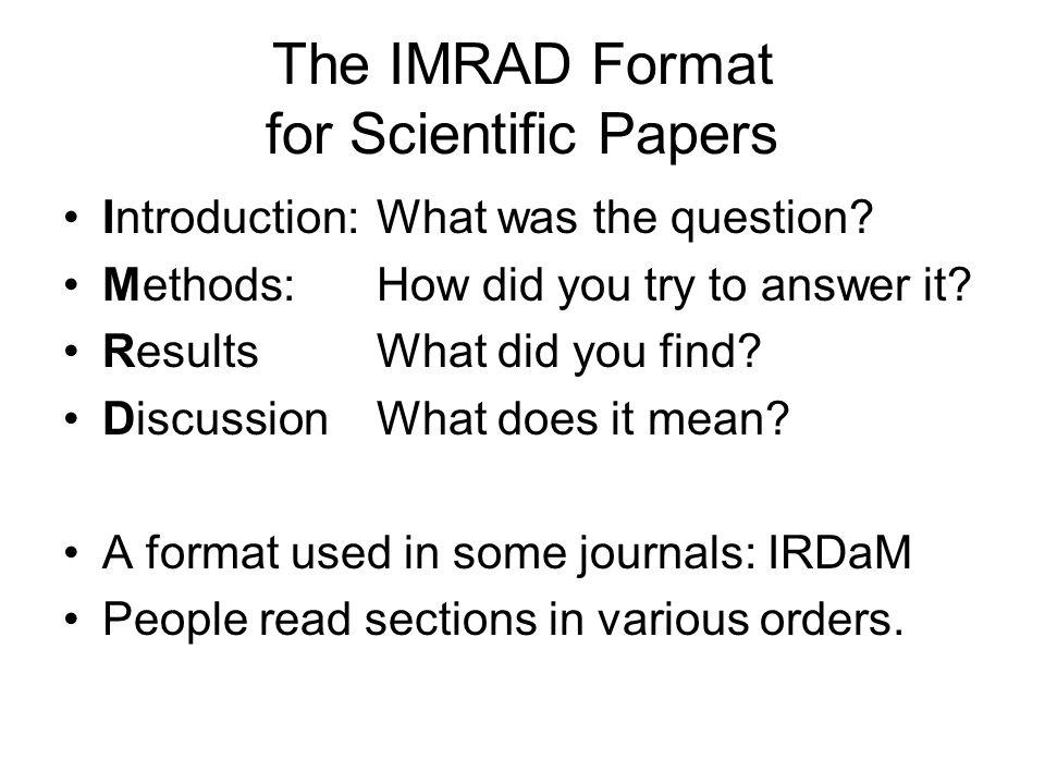 Scientific paper - intro question?