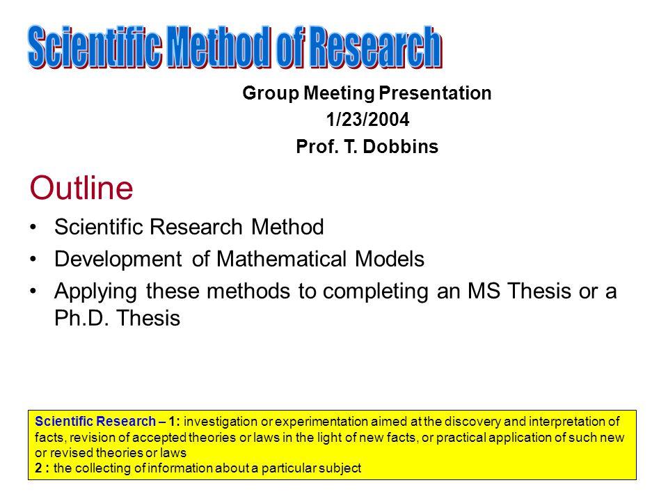 scientific master thesis outline