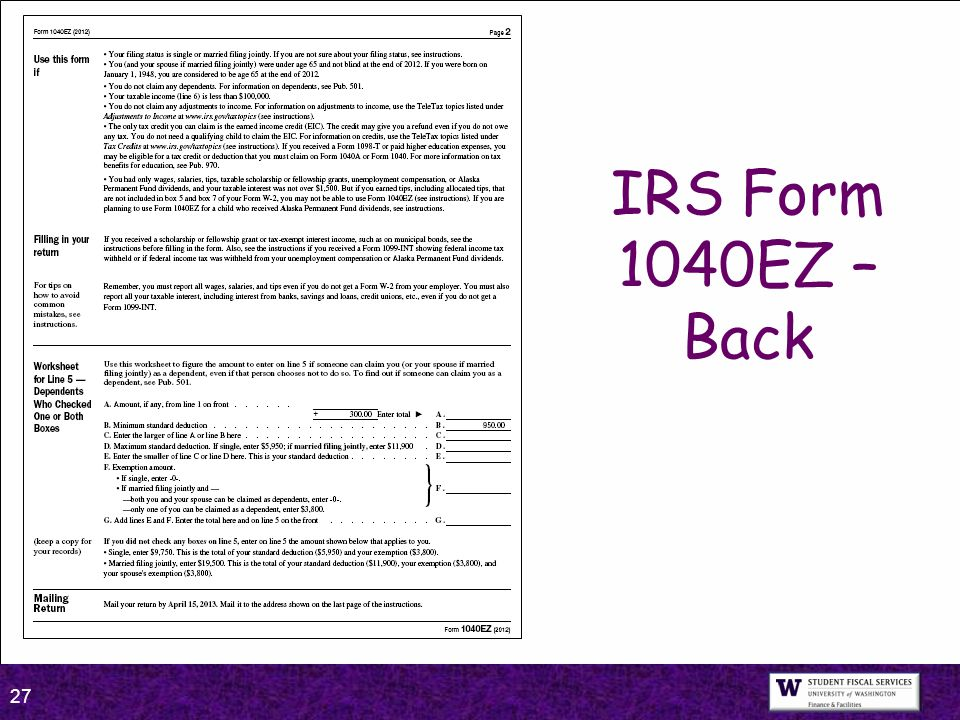 1040ez worksheet for dependents